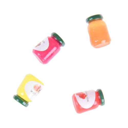 Dollhouse Miniatures 1:12 Accessories Jams Miniature Kitchen 4 Bottles Jams  LD