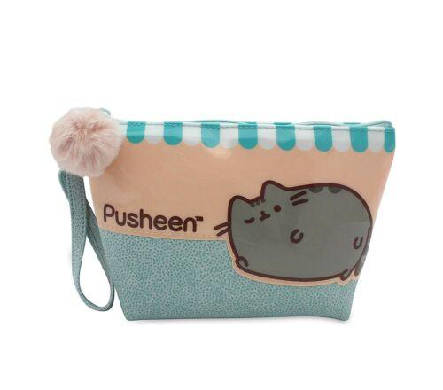 Katze Pusheen Kulturtasche Mit Einer Tasche Blau 17x13cm Ovp Purrfect Jugavi