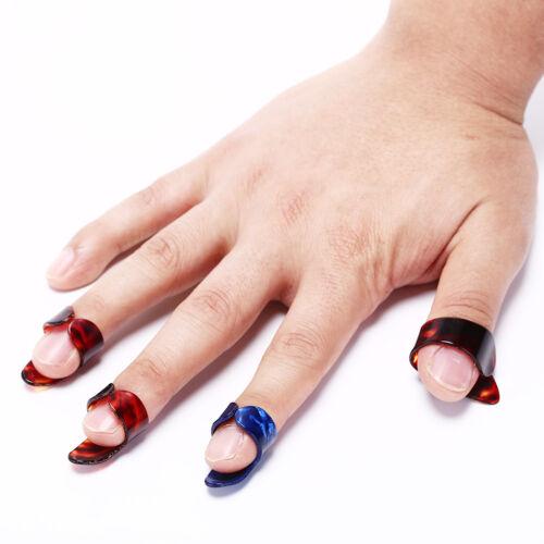 4pcs Finger Guitar Pick 1 Thumb 3 Finger picks Plectrum Color Random accessor ML