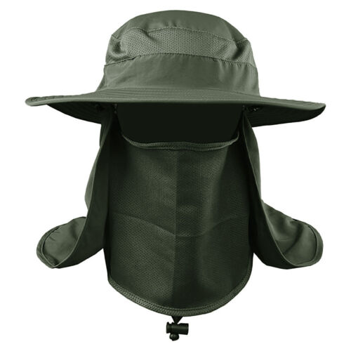 Hiking Fishing Hat Outdoor Sports Sun UV Protection Neck Face Flap Cap Wide Brim