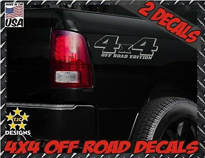 Set GOLD for Dodge Ram or Dakota 4x4 Truck Bed Decals
