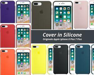 Dettagli su Cover in Silicone Nuova Originale Apple per Iphone 7 Plus 8 Plus Vari Colori