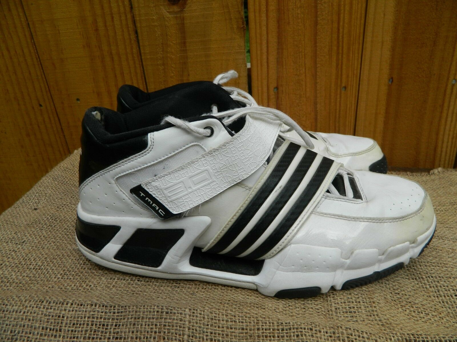 Mens Adidas TMAC 3.0 Basketball shoes Tracy McGrady White Size 12. 2008 Model