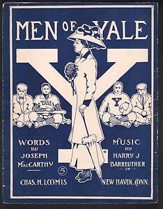 Men-of-Yale-1909-Large-Format-Sheet-Music