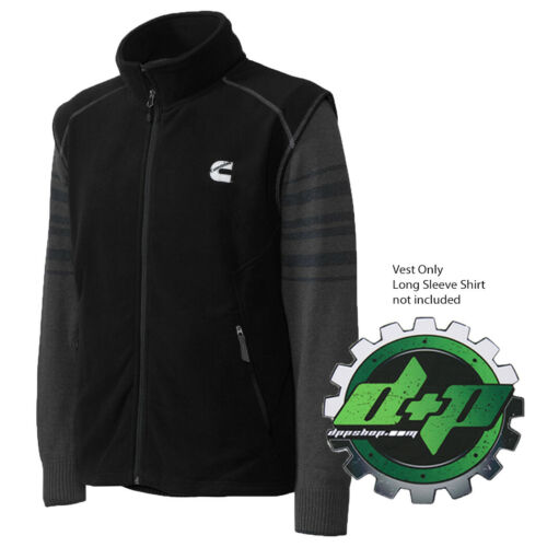 Dodge Cummins fleece zippered sweater Vest w// Zip Pockets truck diesel apparel