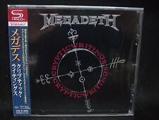 MEGADETH Cryptic Writings + 4 JAPAN SHM CD Metallica MD.45 Vixen Hawaii Menza