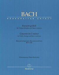 BACH CONCERTO Gmin BWV1056 Violin /& Piano REDUCTIO