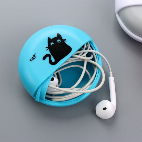 Hard Round Wire Cable Organizer Data Line Box Jewelry Protective Earphone Case