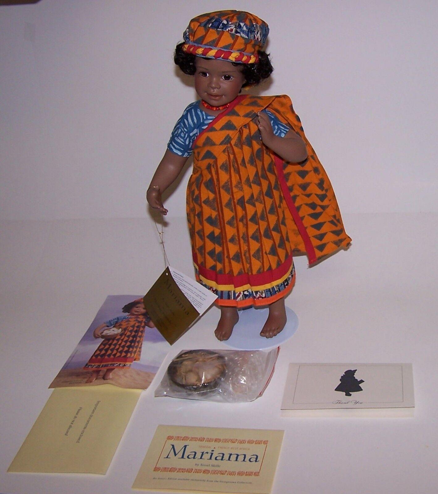 Mariama Porcelain AA 15  Doll Senegal Norwegian Artist Sissel Skille 1994 NIB