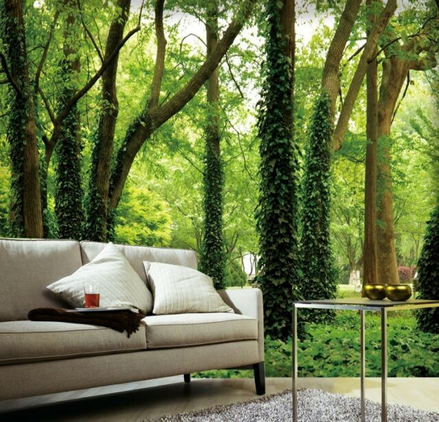 3D Forest Trees 2 Wall Paper Wall Print Decal Wall Deco Indoor wall Murals