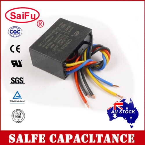 SaiFu CBB61 2.5uF+3.5uF+4uF 5 Wires AC 250V 50//60Hz Capacitor for Ceiling Fan OZ