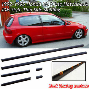 92 95 civic 3dr hatch thin side door molding abs ebay for 1992 honda civic window trim