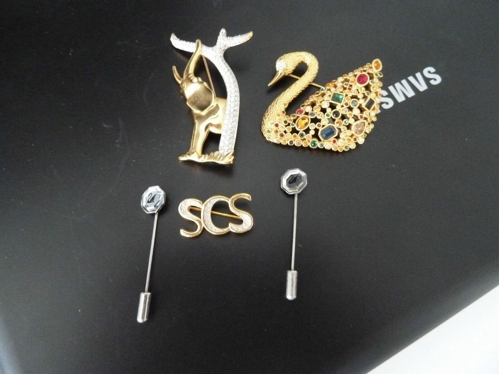 Swarovski 5 broches para miembros