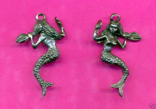 12 wholesale lead free pewter mermaid pendants 5000