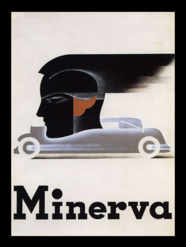 Minerva Chic Car Belgium Europe Vintage Poster Repro FREE S//H in USA