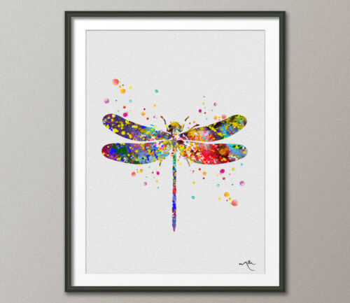 Dragonfly Watercolor illustrations Art Print Wall Art Poster Giclee Wall Decor