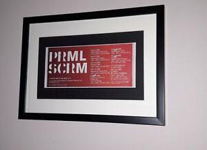 Primal Scream - framed original press release  promo ad for UK tour in year 2000