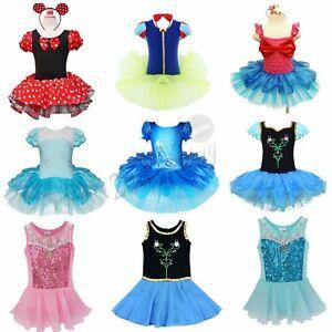 4aa11f02a Girl Ballet Dance Dress Gymnastic Leotard Tutu Skirt Outfit Fancy ...