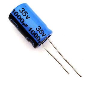 1 pezzo Condensatore Elettrolitico Assiale 1000uF 25V 85°C PHILIPS 18 x 30mm