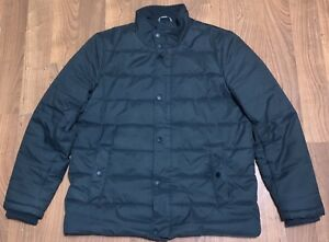 nautica-mens-gray-quilted-puffer-zip-up-warm-winter-jacket-coat-size-large