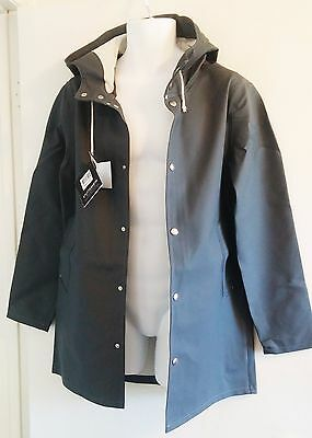 STUTTERHEIM Raincoat Hand Made in Sweden Charcoal Gray ($295 Retail) XS