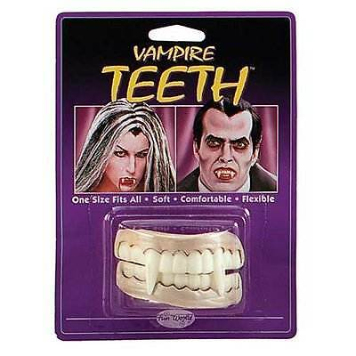 FAKE VAMPIRE TEETH,DRACULA SET OF FANGS,FANCY DRESS ACCESSORY,HALLOWEEN #US