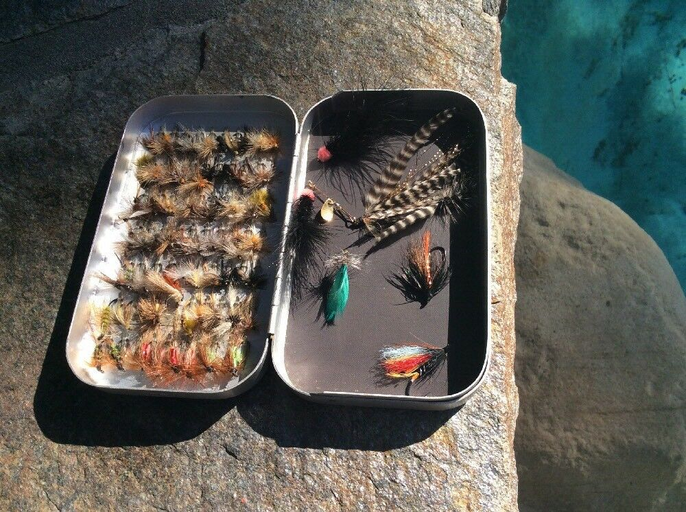 WHEATLEY SILMALLOY Metal Fly Box With 70  Clips Plus 70+ Flies  B8  sale with high discount