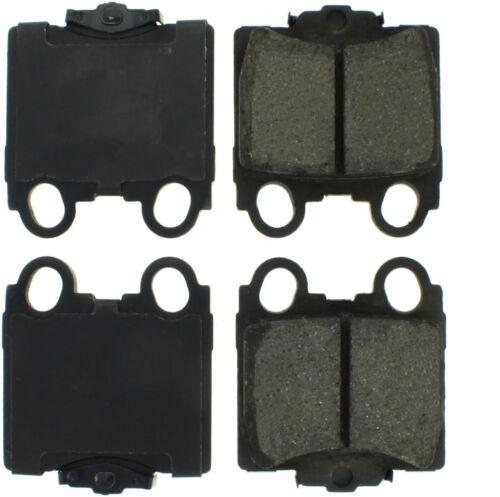 Disc Brake Pad Set-Premium Semi-Met Pads with Shim and Hardware Rear Centric