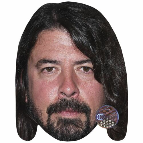 Beard Dave Grohl Card Face and Fancy Dress Mask Celebrity Mask