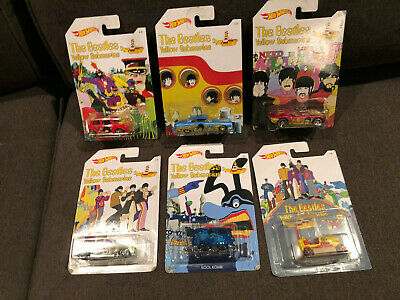 Hot Wheels The Beatles Complete Set of 6 Cars