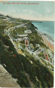 PC17309 Zig Zag Path and Sands. Bournemouth. 1913