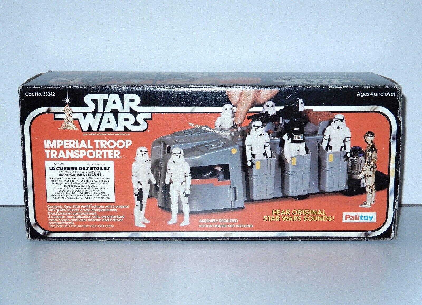 STAR WARS KENNER 1978 ANH IMPERIAL TROOP TRANSPORTER IN ORIGINAL BOX grau COVER