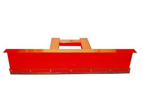 Räumschild Schneeschild Schneeschieber für Gabelstapler 90° Rot 150 x 40 cm