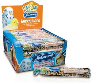 CANARY-HONEY-BAR-35g-x40-Johnsons-Finch-Linnet-Bird-Treat-Feed-bp-Pet-Food