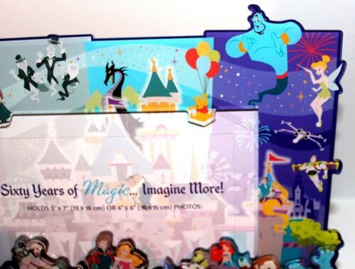 Details about  /Disneyland 60th Anniversary Characters Photo Picture Frame Mickey Minnie Disney