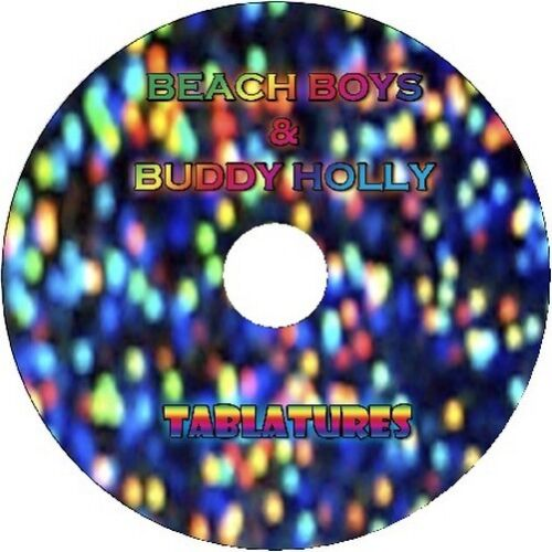 BEACH BOYS /& BUDDY HOLLY GUITAR TAB CD TABLATURE GREATEST HITS BEST OF MUSIC
