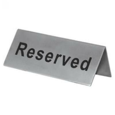1 X Reserved Table Sign - Stainless Steel