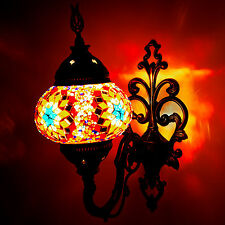 Handmade Home Decor Wall Sconce Light Turkish Moroccan Style Mosaic Design Lamp