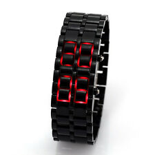 Best Deal Black Plastic Red LED Lava Samurai Men Women LED Digital Wrist Watches