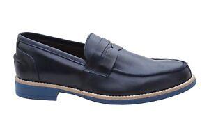 Class Chaussures Véritable Cuir Superlight Man Élégant Foncé Casual Mocassins Bleu HwCEqwF