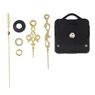 Quartz Clock Movement Mechanism Long Spindle Gold Hand