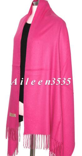 Pink New 4-Ply 70/% Pashmina /& 30/% Silk Pure Shawl~Hot