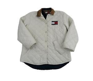 Tommy Hilfiger Women's White Quilted Jacket Medium ...