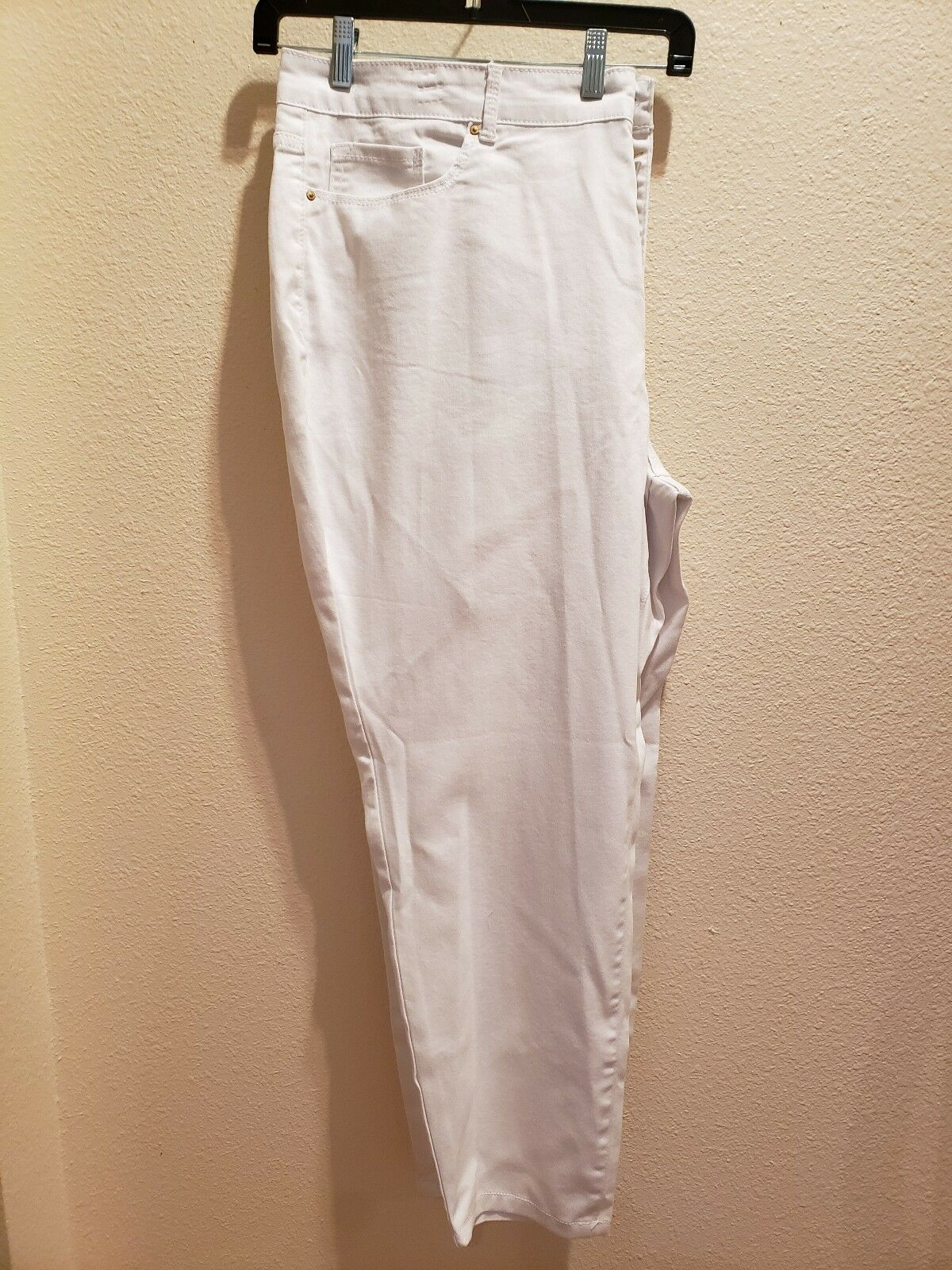New VINTAGE AMERICA bluees Size 24W White Ankle Length Jeans
