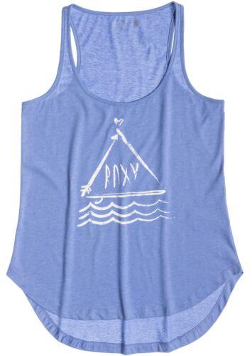 Roxy Basic Tank B Sleeveless T-Shirt in Light Denim Heather