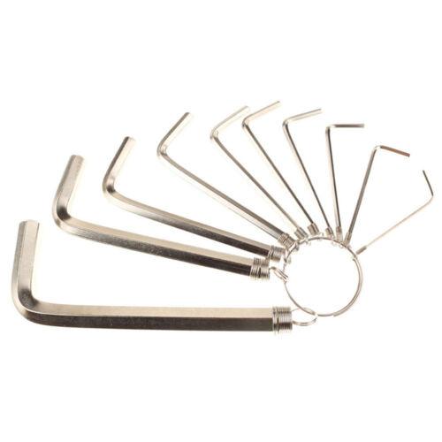 Professional Tools Combination 10pcs//Lot New Allen Wrench Kit Torque Steel