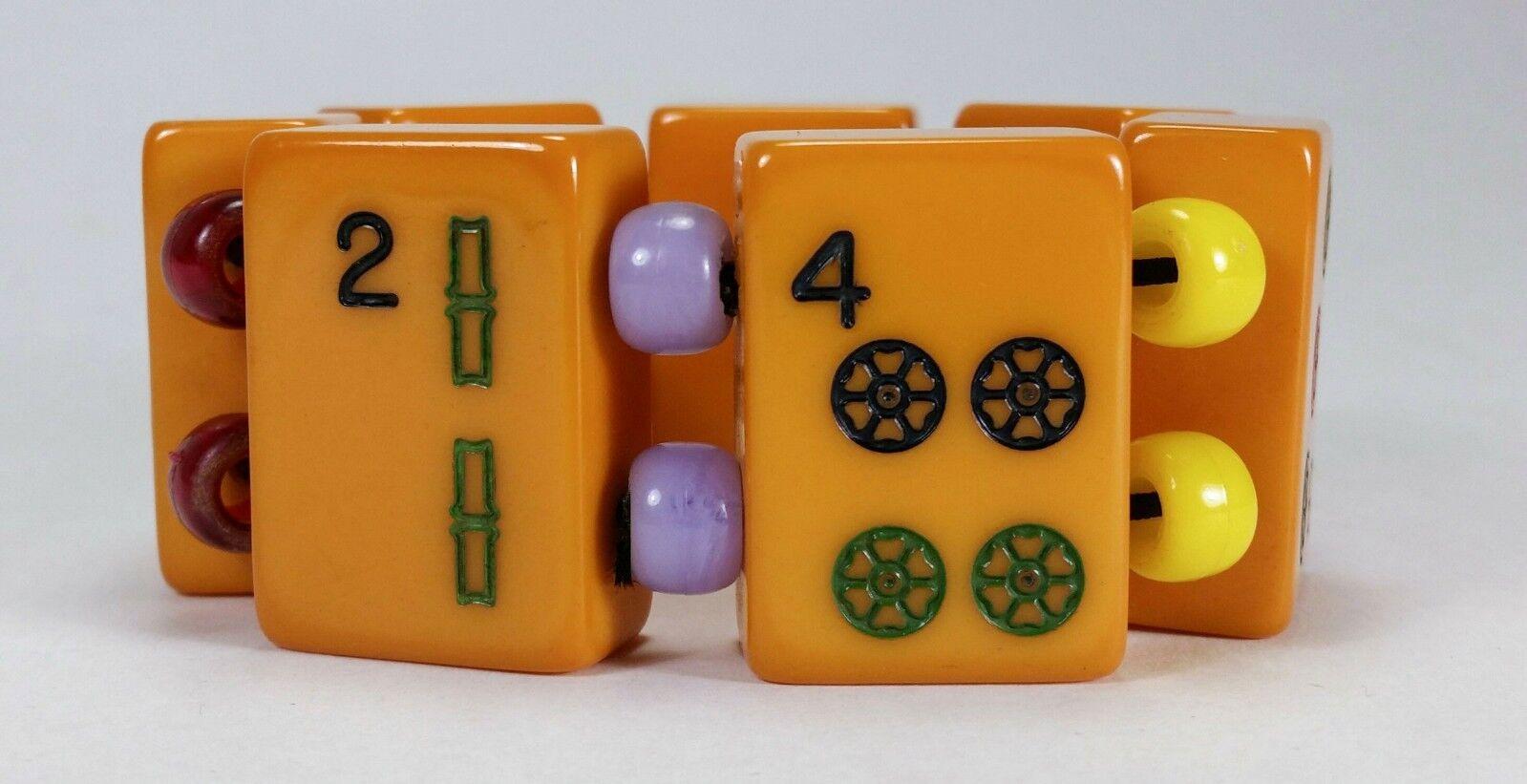 1930 - Bracciale Mahjong - Autentica Bakelite Americana - Art Art Art Decò (+) 853ae9