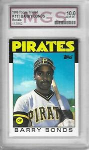 Graded-1986-TOPPS-TRADED-BARRY-BONDS-MGS-10-GEM-MINT-11T-ROOKIE-CARD