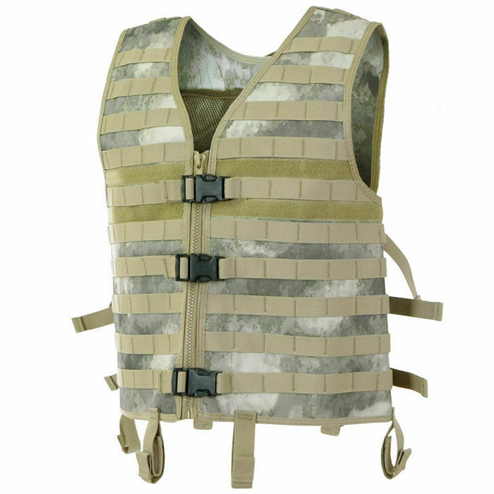 MFH Modular MOLLE Tactical Vest w  6 loops for tactical belt One Size HDT Camo