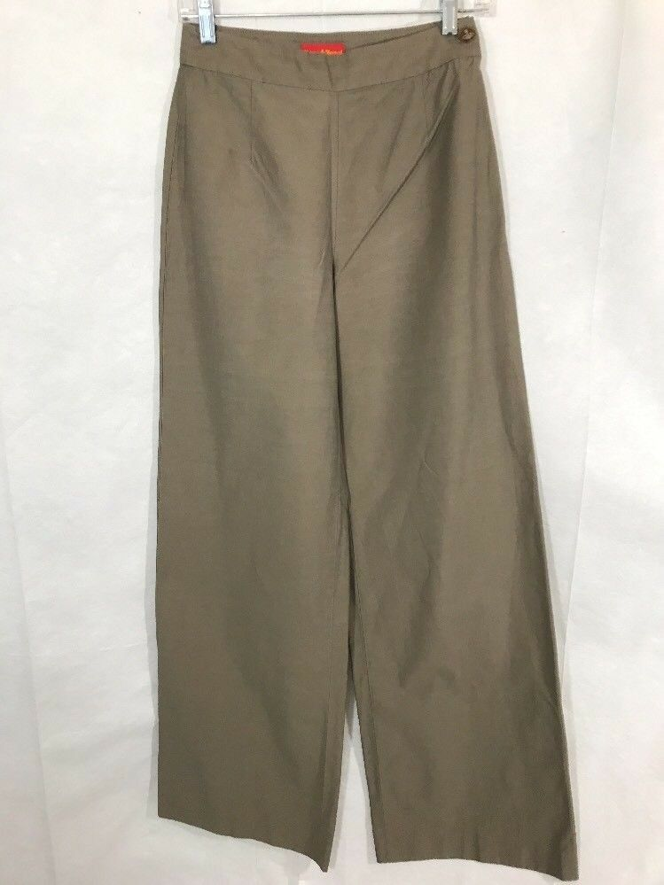Vivienne Westwood Red Label Womens Wide Leg High Waisted Cotton Pants Sz 42 US 6